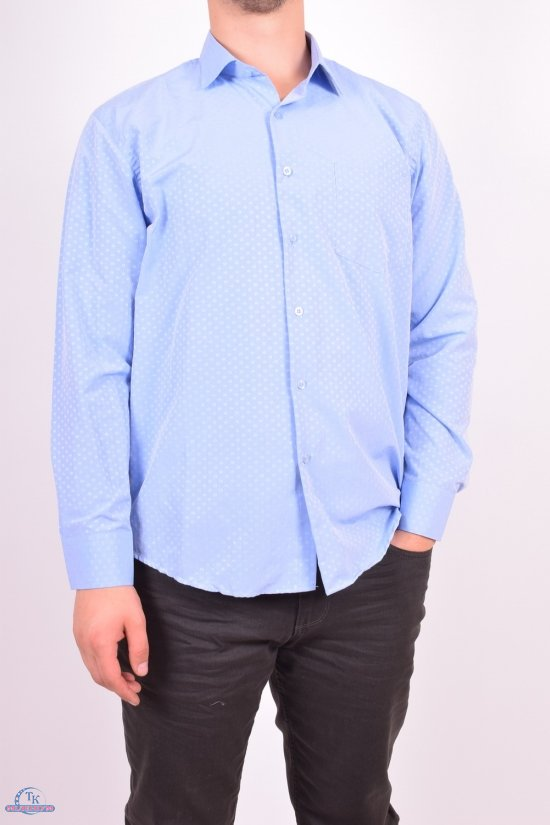 Рубашка мужская  (цв.голубой)  businessX (Cotton 70%,Polyester 30%) Размеры в наличии : 50,52 арт.06