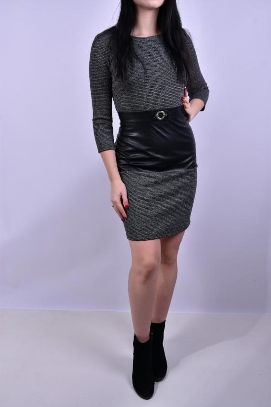 Платье женское (цв.серый) ONCU Размеры в наличии : 42,44 арт.016-6202