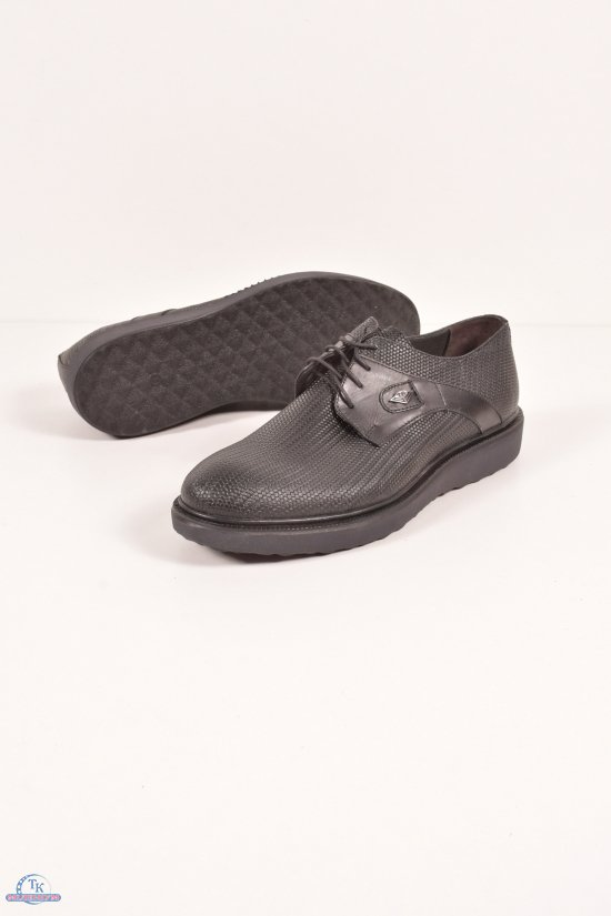 Туфли мужские из натуральной кожи (цв.чёрный) Vantaggio Размеры в наличии : 40,41,42,43,44 арт.275