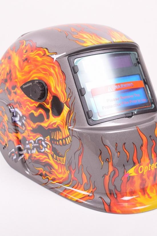 Маска  ХАМЕЛЕОН OPTECH S777C череп в огне с4-я оптическими сенсорами арт.WH-0008