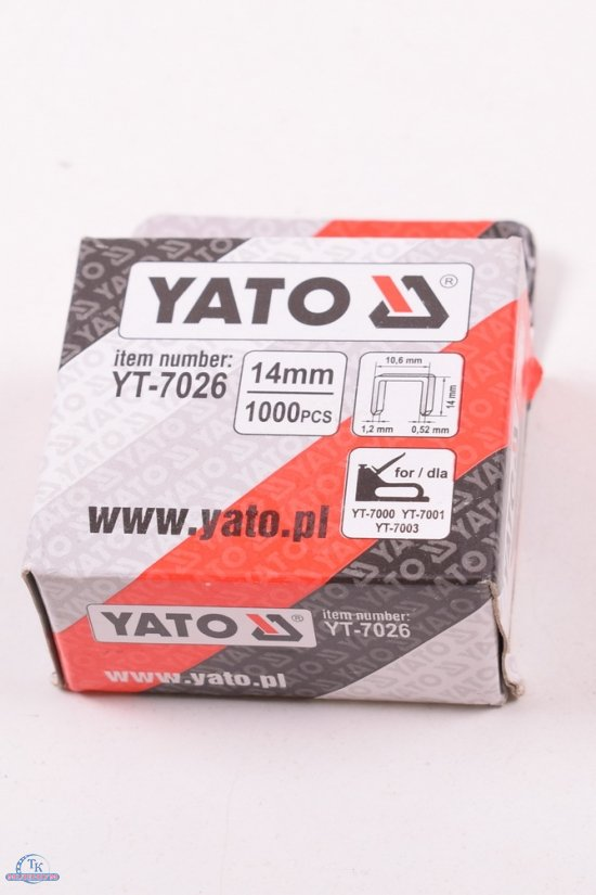 Скобы для степлера 14мм Yato арт.YT-7026