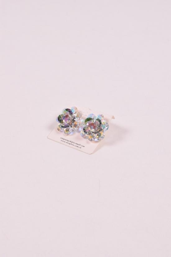 Серьги с камнями Сваровски арт.232801