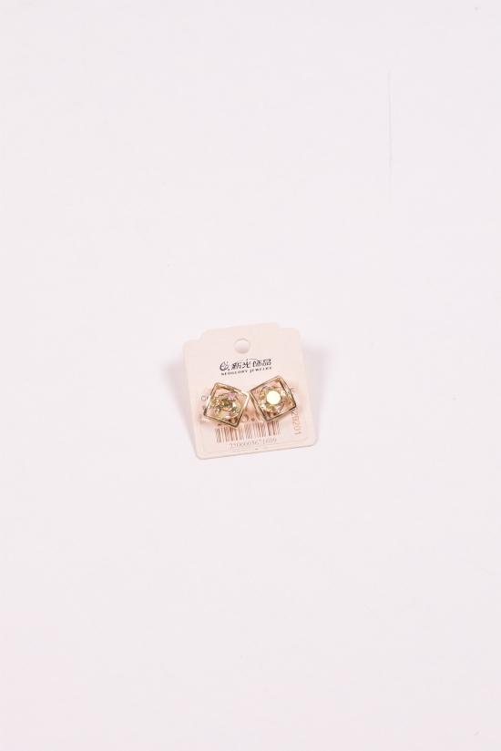 Серьги с камнями Сваровски арт.529201