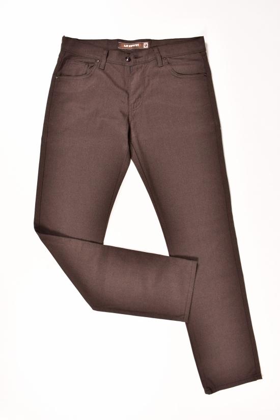 Брюки мужские (цв.тёмно-коричневый) LeGutti (Lycra 5%,Viscose 24%,Wool 71%) Размеры в наличии : 31,32,33,36,38 арт.2472