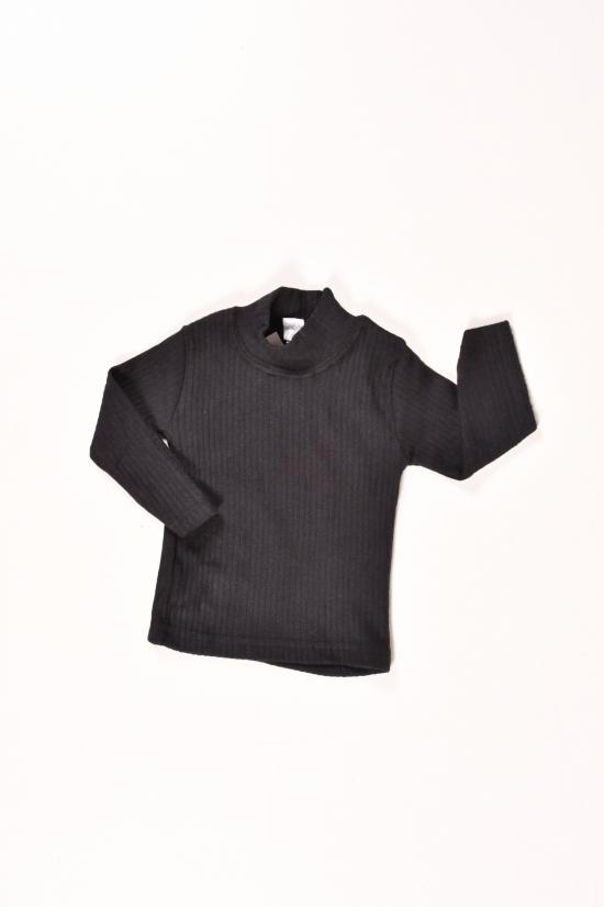 Водолазка детская кашемировая (цв.черный) ENPAK Рост в наличии : 74 арт.водолазка