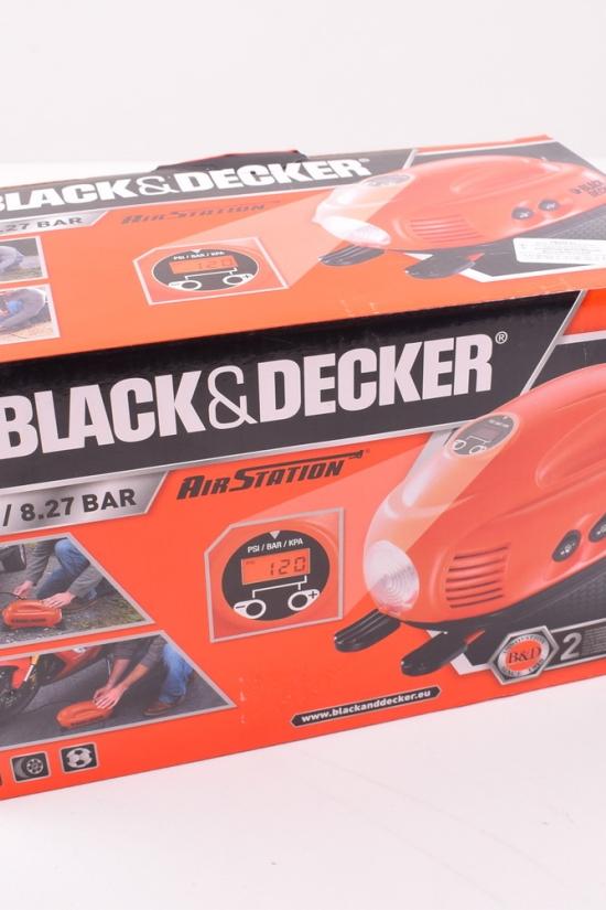 Компрессор автомобильный Black&Decer (V=220 В, макс. давление 8,3 Bar) арт.ASI200-XJ