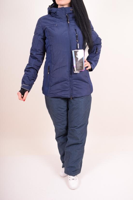 Костюм женский лыжный (цв.т.синий) из дышащей мембранной ткани 10000 mm SNOW HEADQUARTER Размеры в наличии : 42,46,48 арт.B-8053