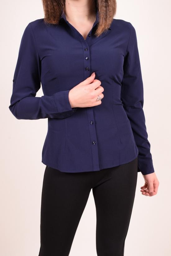 Рубашка женская стрейчевая (цв.т.синий) BASE cotton 100 % Размеры в наличии : 40,44,46,48 арт.A1487