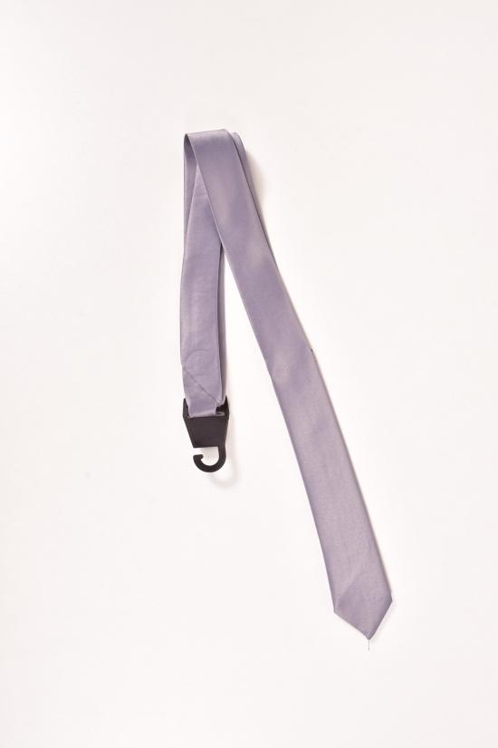 Галcтук мужской однотонный (цв.серый) арт.галстук