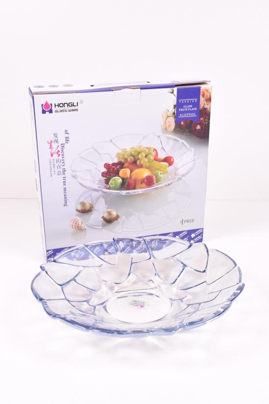 Блюдо стеклянное диаметр 34 см арт.PL-9513