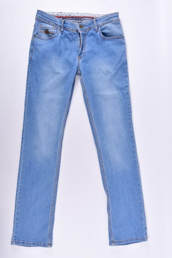 Джинсы мужские стрейчевые c поясом (Slim fit) ANDROMEDA (Cotton 98%,Lycra 2%) Размеры в наличии : 30,31,32,33,34,36,38 арт.AD4318-1