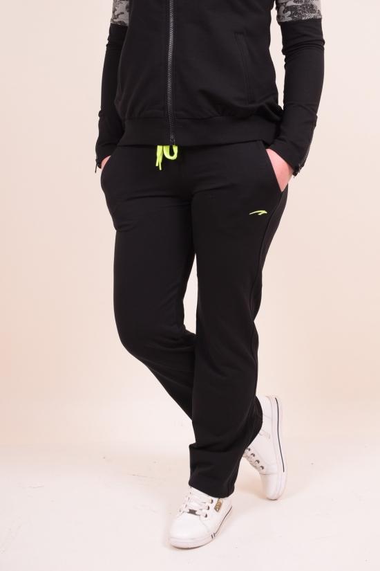 Брюки спортивные женские трикотажные (цв.черный/салатовый) MARATON (Cotton 75%,Lycra 8%,Polyester 17%) Размеры в наличии : 44,46,48,50 арт.MWS1715002PNT002