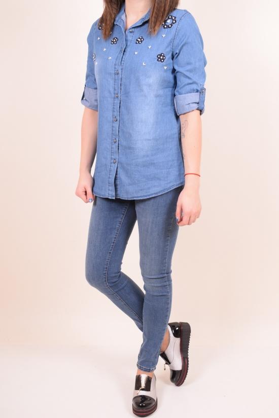 Рубашка  женская котоновая (цв.голубой)   Madoy Размер в наличии : 40 арт.2226