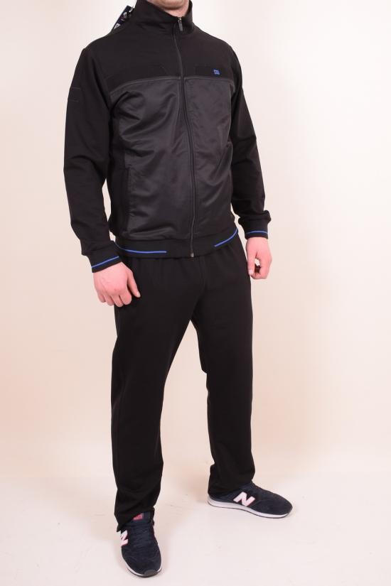 Костюм спортивный мужской трикотажный (цв.чёрный) Rowinger (Cotton 70%,Elastane 5%,Polyester 25%) Размеры в наличии : 48,50,52 арт.201837