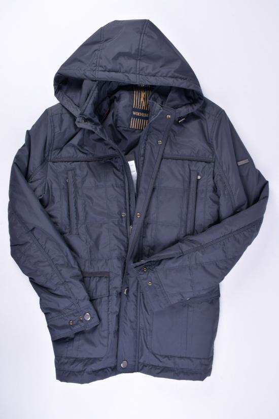 Куртка мужская (цв.синий) демисезонная из плащевки WOLVES Размеры в наличии : 48,50,52,54,56 арт.W-811