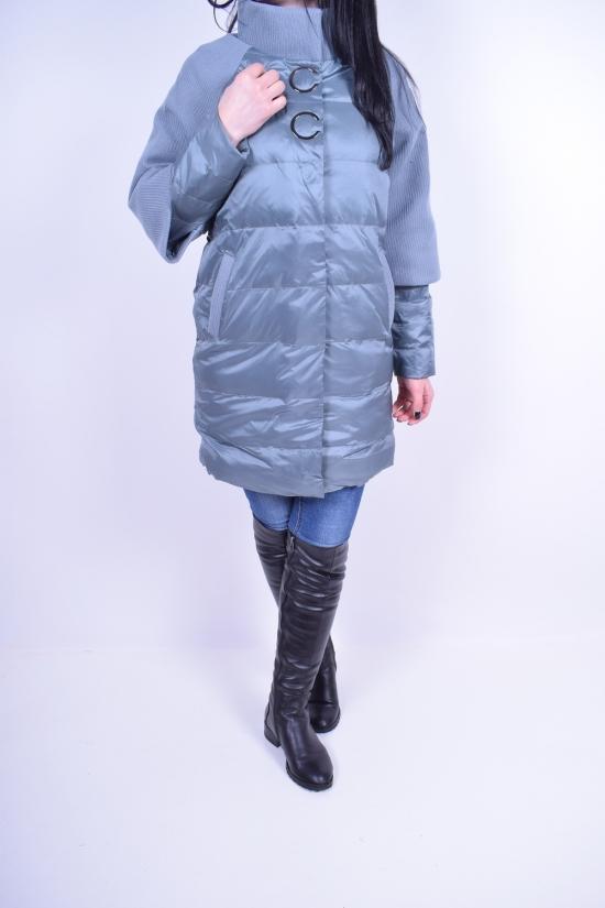 Пальто женское из плащёвки демисезонное (color 17) Crazy Button Размеры в наличии : 46,48 арт.8811