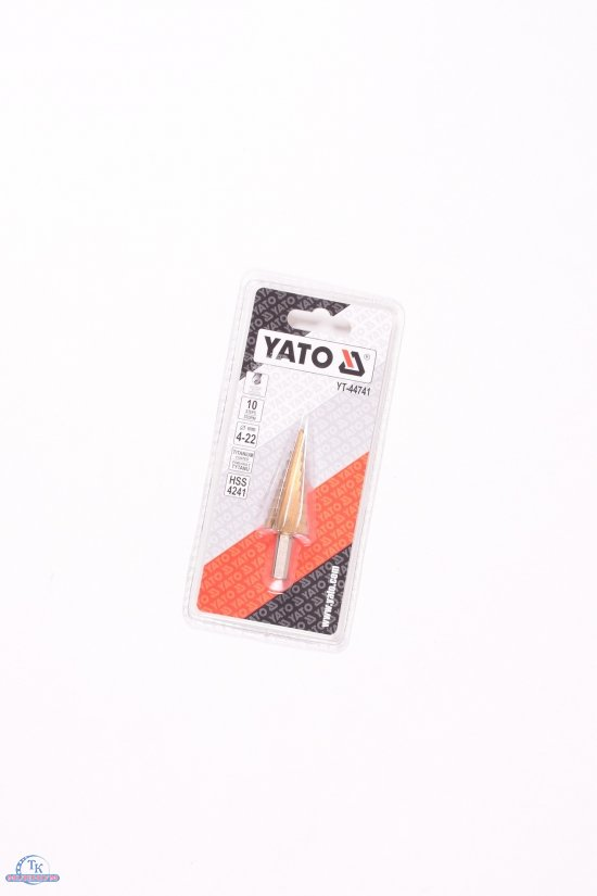 Сверло конусное ступенчатое по металлу YATO (HSS4241, d=4-22 мм, L=75мм) арт.YT-44741