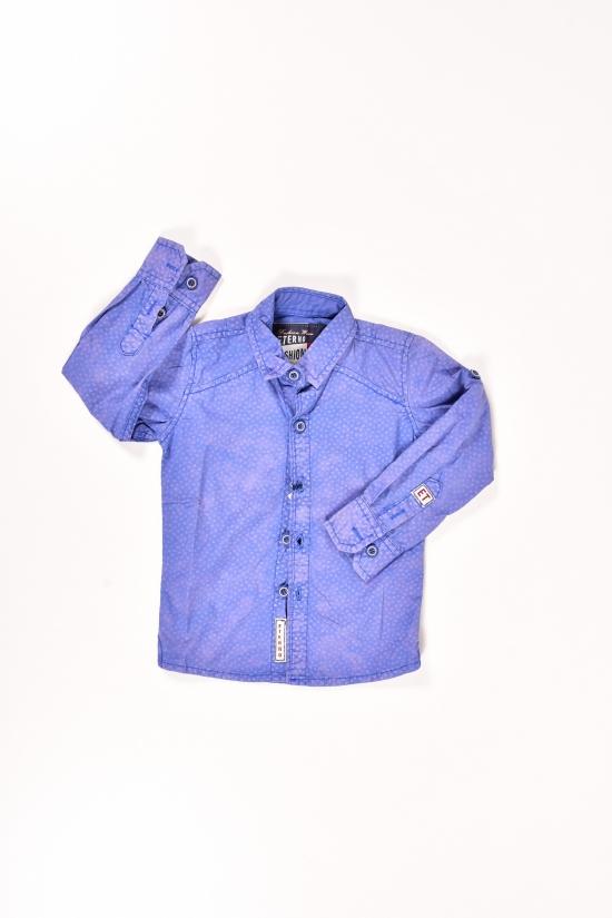 Рубашка для мальчика (цв.синий) ETERNO (Cotton 100%) Объем в наличии : 110 арт.ABK-004,