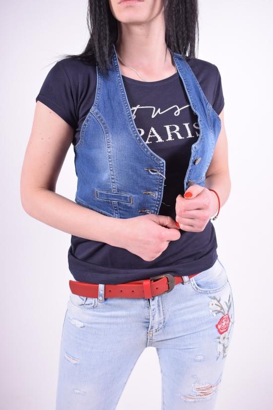 Жилетка-топ джинсовая стрейчевая женская OFIS Размеры в наличии : 34,36,38,40,42 арт.3610