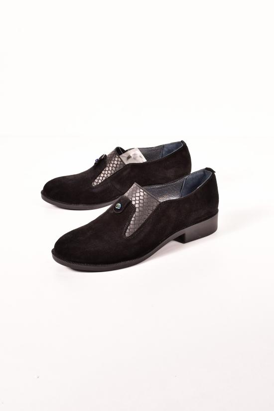 Туфли женские (цв.чёрный) с натуральной замши GERDA Размеры в наличии : 36,37,38,39,40,41 арт.919