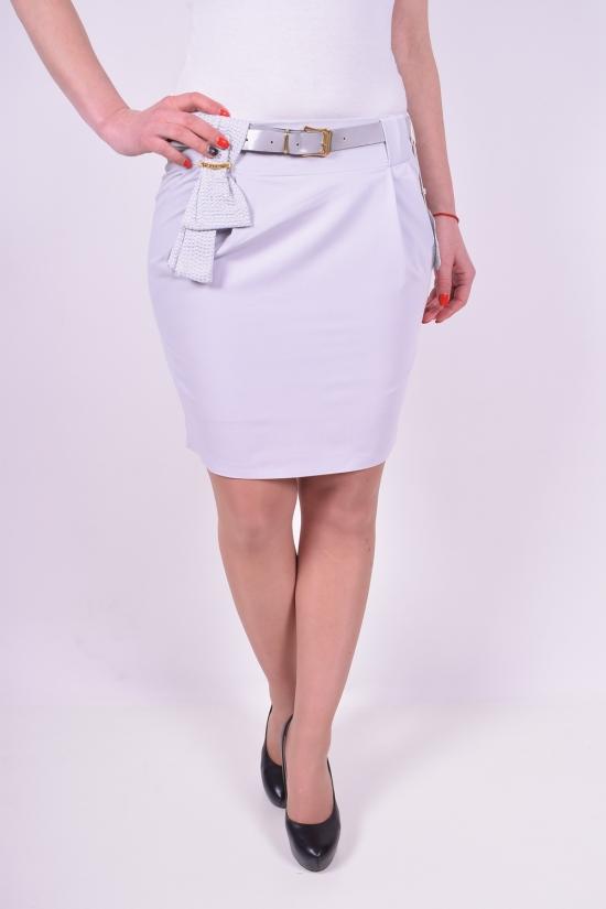 Юбка женская с поясом (цв.серый) Slow (Elastane 5%,Polyester 61%,Viscose 34%) Размеры в наличии : 40,42,44,46 арт.4095