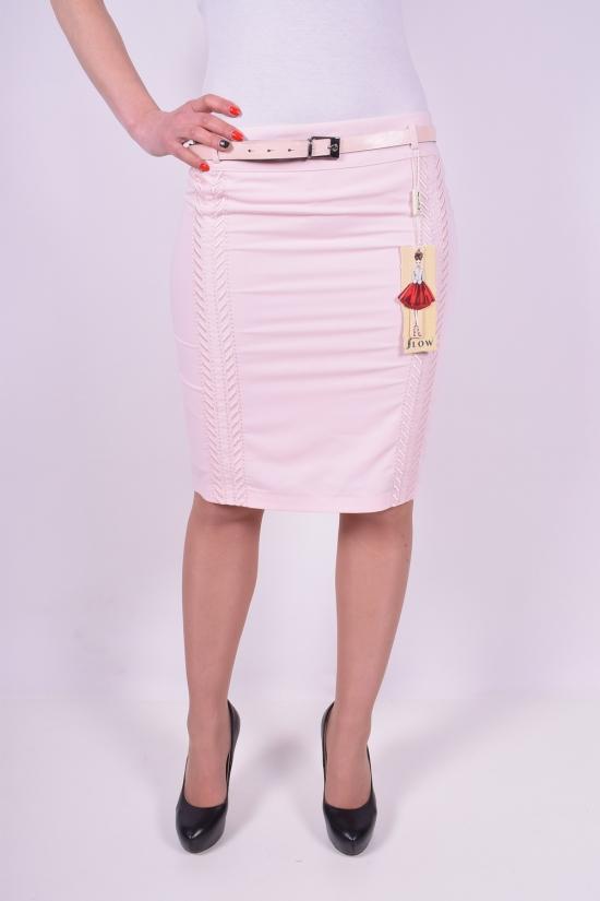 Юбка женская с поясом (цв.розовый) Slow (Elastane 5%,Polyester 61%,Viscose 34%) Размеры в наличии : 42,44,46,48 арт.4051