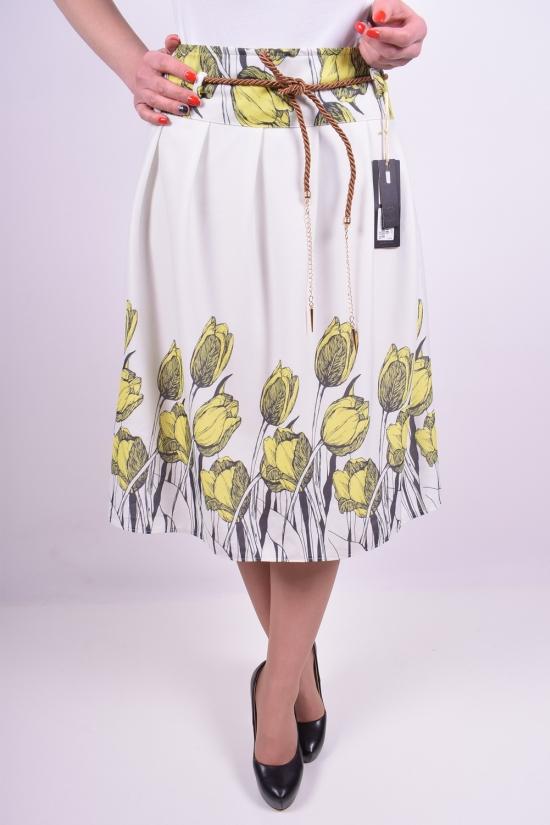 Юбка женская (цв.белый/жёлтый) Miss Belles Размеры в наличии : 42,44,46,48,50 арт.81871