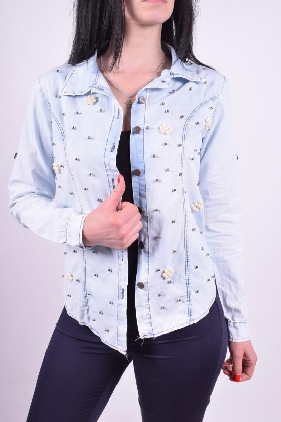Рубашка женская джинсовая (100% котон) Istanbul Размеры в наличии : 40,42 арт.001/25