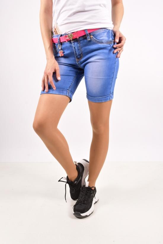Шорты джинсовые женские с поясом ZYH JEANS Размеры в наличии : 25,26,27,28,29,30 арт.89091