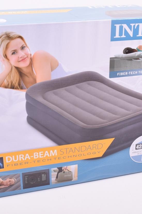 Кровать велюр 64132 со встроенным насосом (220-240в) 99/191/42см. арт.64132