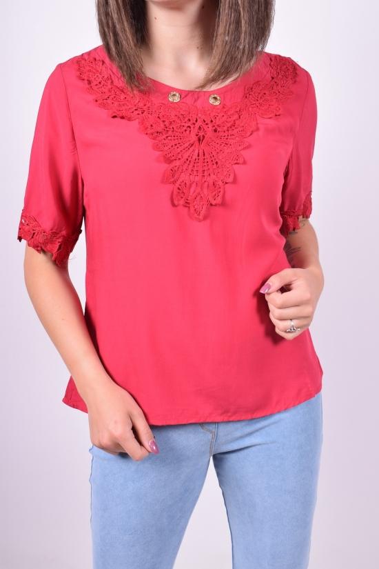 Блузка женская (цв.красный)  Baiyibaishun Размеры в наличии : 42,44,46,48 арт.A907