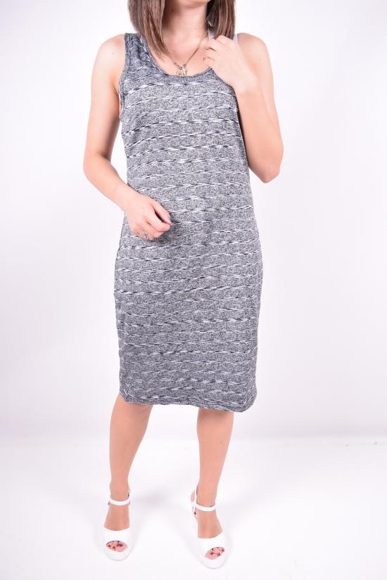 Платье женское стрейчевое (цв.серый/черный) Clover Размеры в наличии : 44,46,48 арт.Q83