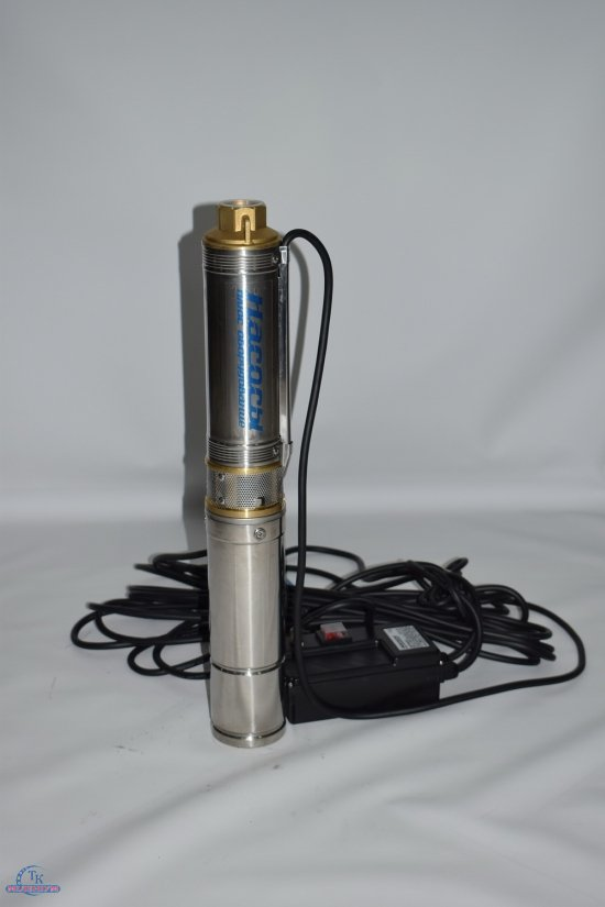 Электронасос центробежный погружной (скважинный) НАСОСЫ+ до 2квт. (подача 20,1-30л/м) арт.БЦП2,4-16У