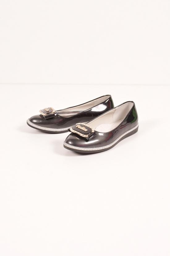 Туфли для девочки лаковые (цв.чёрный) W.niko Размеры в наличии : 33,35,36,37 арт.G067-7