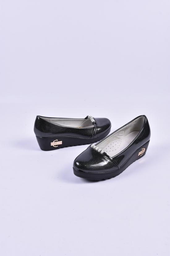 Туфли для девочки лаковые (цв.чёрный) W.niko Размеры в наличии : 32,33,34,37 арт.9371-5