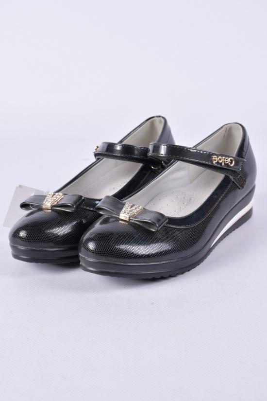 Туфли для девочки лаковые (цв.чёрный) W.niko Размеры в наличии : 34,36 арт.A777-8