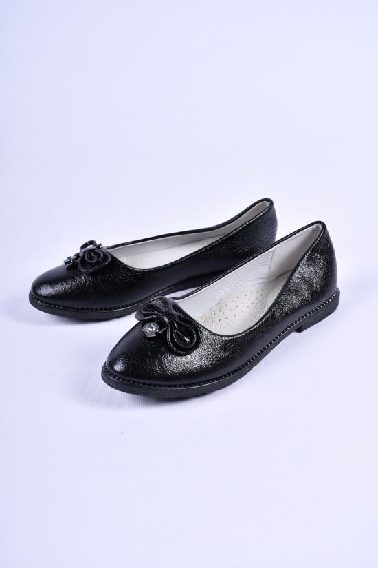 """Туфли для девочки (цв.чёрный) """"Башили"""" Размеры в наличии : 32,33,34,35,36,37 арт.833-2"""