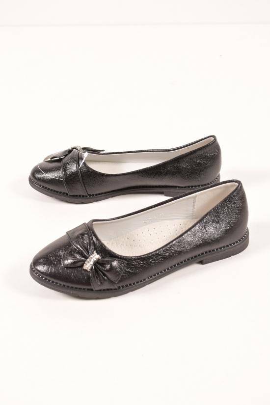 """Туфли для девочки (цв.чёрный) """"Башили"""" Размеры в наличии : 31,33,37 арт.833-1"""