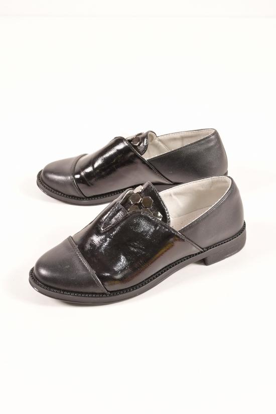 """Туфли для девочки комбинированные (цв.чёрный) """"Башили"""" Размеры в наличии : 30,31,32,33,34,35,36 арт.8G133-2"""