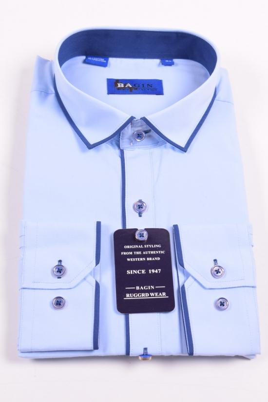 Рубашка мужская (Slim Fit) Bagin (Cotton 80%,Polyester 20%) Размер ворота в наличии : 36 арт.LD17.89-3