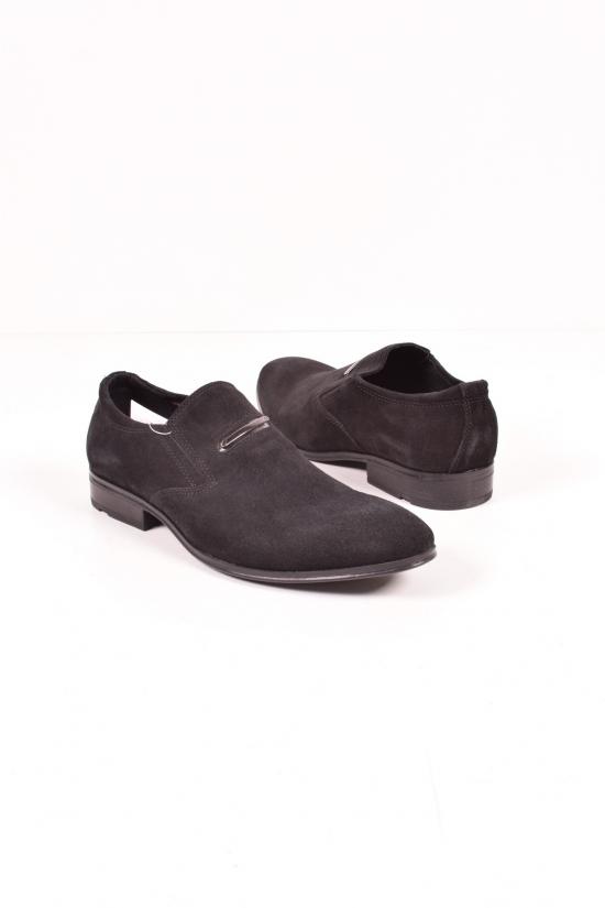 Туфли  мужские из натуральной замши (цв.чёрный) DAN Shoes Размеры в наличии : 40,41,42,43,44,45 арт.LP51-4/640