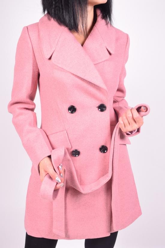 Полу-пальто женское из демисезонное (цв.персиковый) HOLDLUCK Размер в наличии : 48 арт.C-03