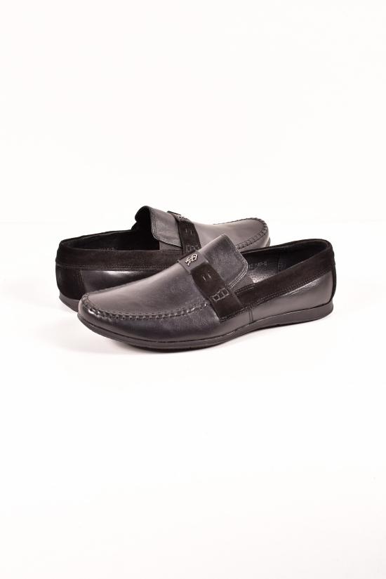 Мокасины мужские кожаные (цв.чёрный) DAN Shoes Размеры в наличии : 40,41,42,43,44 арт.13A058-10/76
