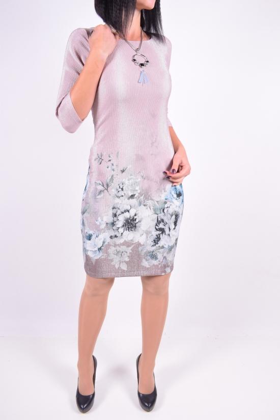 Платье женское IDEAL CAROLINA (Cotton 65%,Lycra 5%,Polyester 10%,Viscose 20%) Размер в наличии : 48 арт.316042DPR