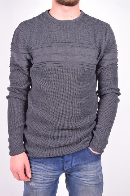 Свитер мужской вязаный (цв.серый) L&G Lagos Размеры в наличии : 40,42,46 арт.2085