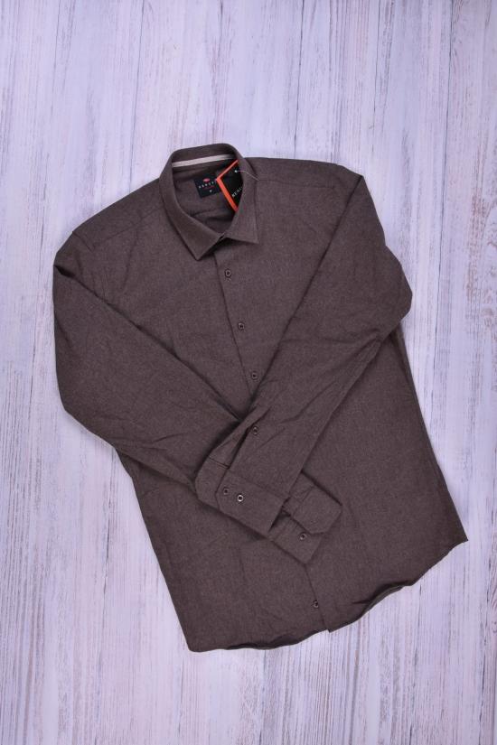 Рубашка мужская шерстяная (цв.шоколадный) RENOVI Размеры в наличии : 42,44,46,48 арт.1942CR