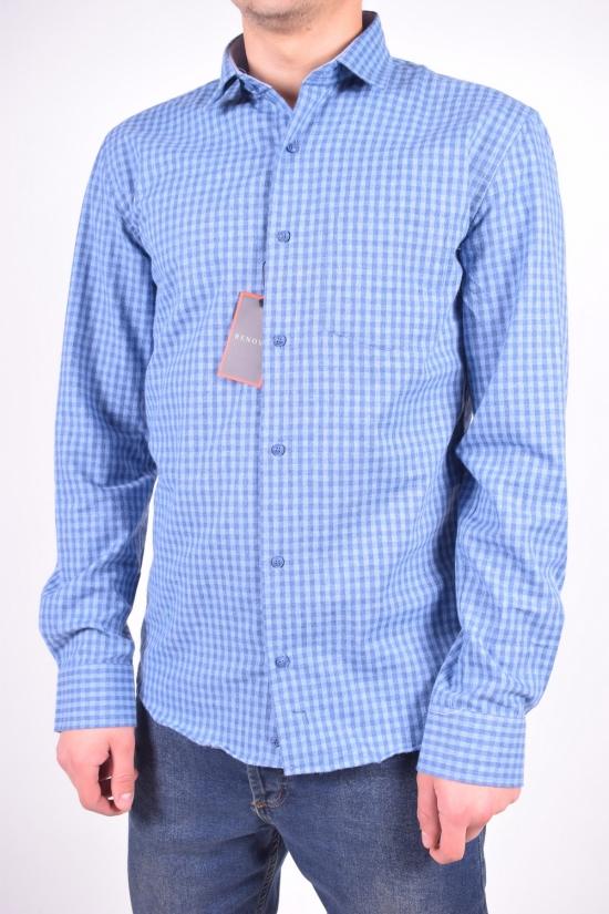Рубашка мужская шерстяная (цв.синий) RENOVI Размеры в наличии : 42,44,46 арт.0940CR