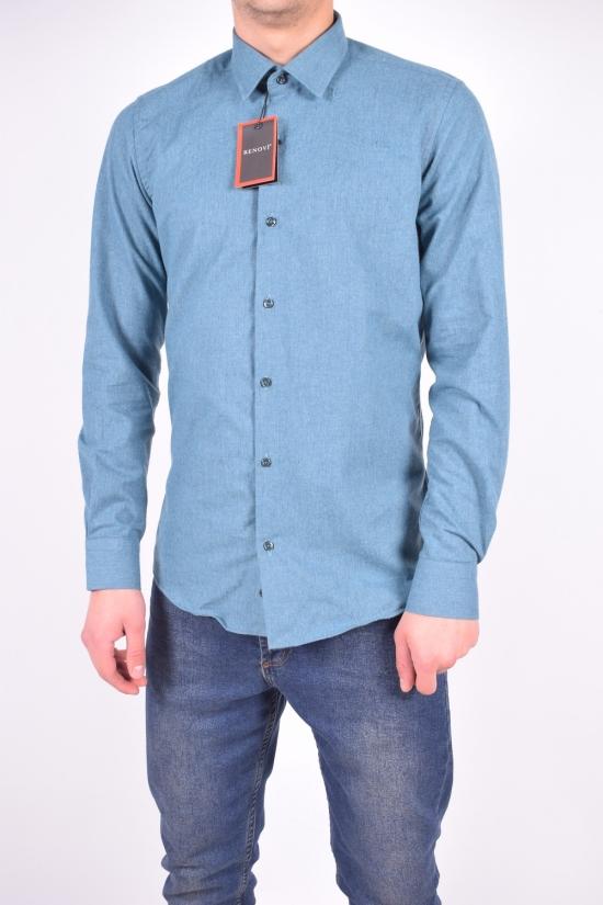 Рубашка мужская шерстяная (цв.морской волны) RENOVI Размеры в наличии : 42,44,46 арт.1942CR