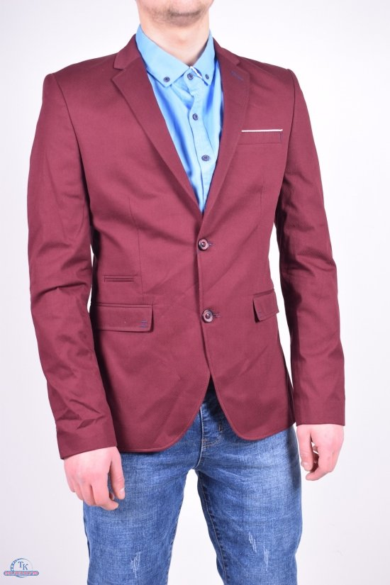 Пиджак мужской классический (цв.бордовый) ETTE Размеры в наличии : 46,50 арт.504-2