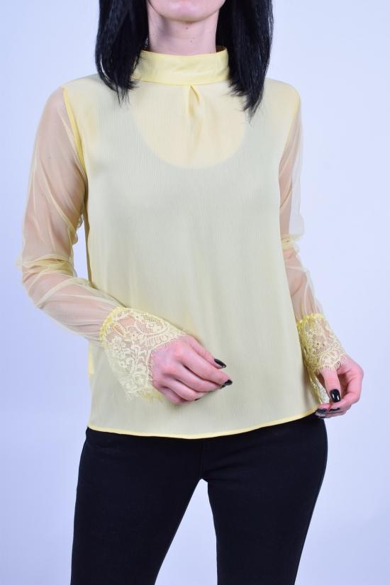 Блуза женская (цв.желтый) PARKhande Размеры в наличии : 42,44,46,48 арт.1396
